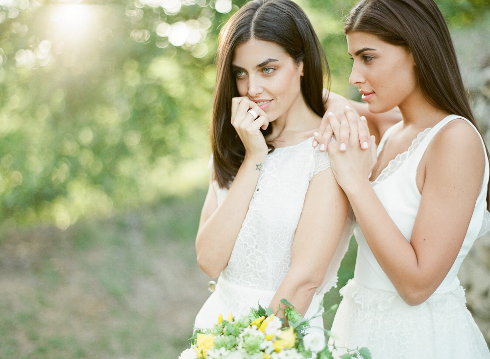 Modern brides at a Provence venue