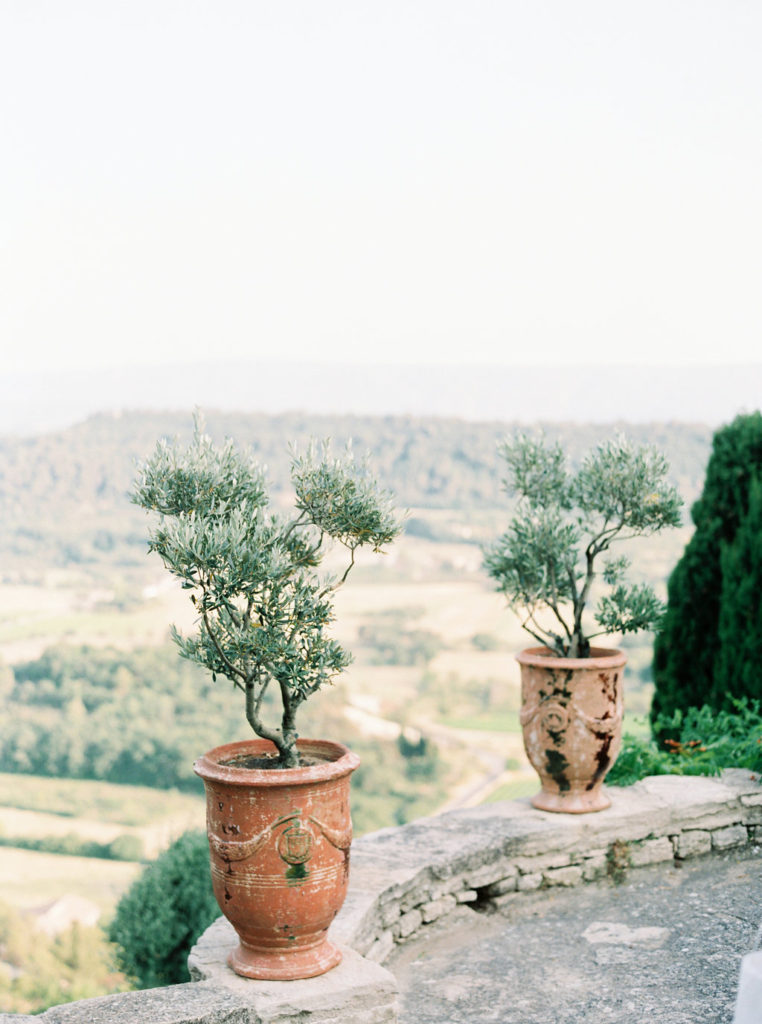 Beautiful views from a private mansion in Gordes