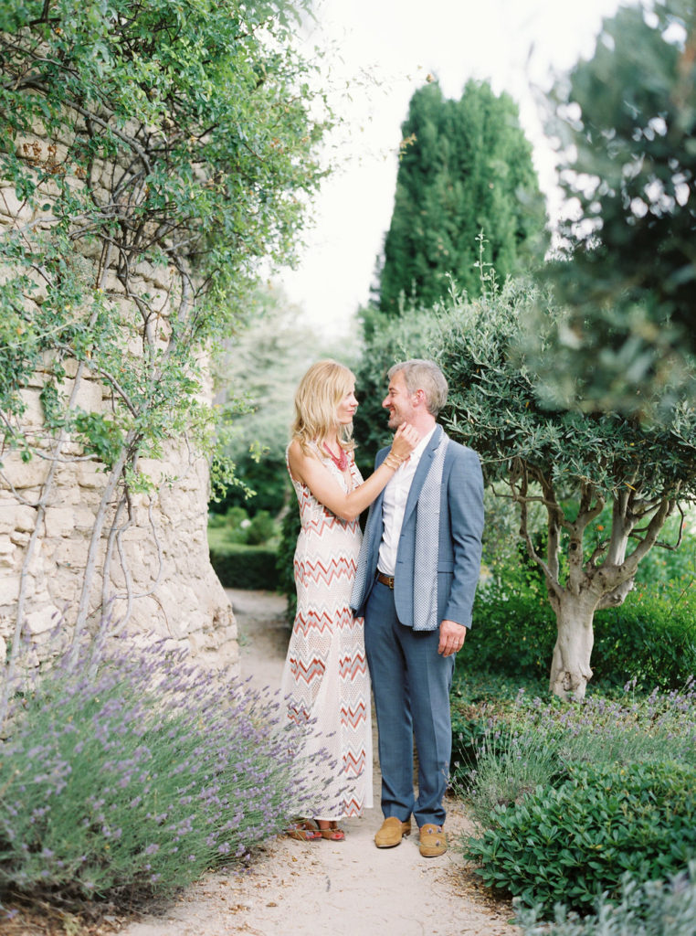 Couple in beautiful Provence garden