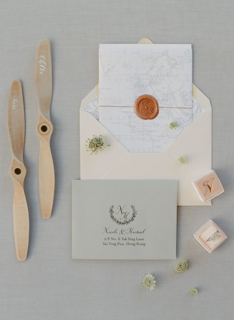Wedding invitation suite and details